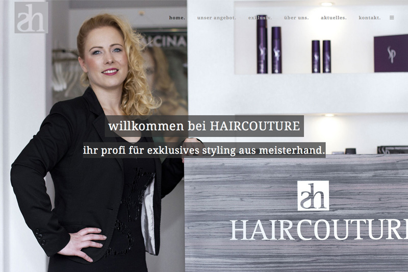 HAIRCOUTURE - WEBSEITE 1
